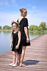 Šaty - Ľanové šaty NORA čierne - 8194329_