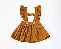 Detské oblečenie - Sukňa EMA škoricová - 8194639_