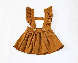 Detské oblečenie - Sukňa na traky horčicová - 8194639_