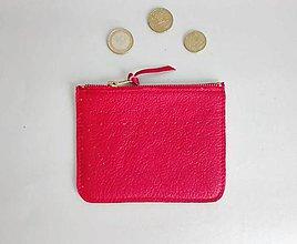 Peňaženky - Peněženka něžná červená - 8195223_