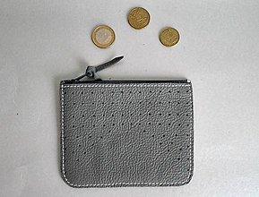 Peňaženky - Peněženka něžná šedá - 8195269_