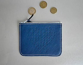 Peňaženky - Peněženka srdíčkovka modrá - 8195414_