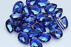 Komponenty - kabošon sklenený saphire drop 10x14/ 1ks - 8194714_