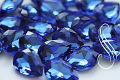 Komponenty - kabošon sklenený saphire drop 10x14/ 1ks - 8194715_