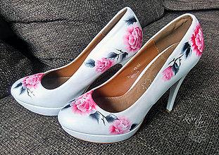 Obuv - Lodičky s ružami - 8195399_