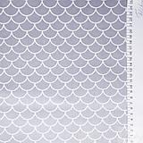 Textil - šedé vlnky; 100 % bavlna, šírka 160 cm, cena za 0,5 m - 8194482_
