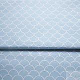 - tyrkysové vlnky; 100 % bavlna, šírka 160 cm, cena za 0,5 m - 8194788_