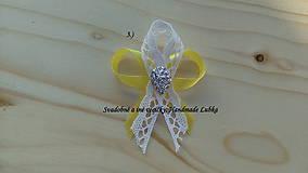 Svadobné pierka - žltá a čipka