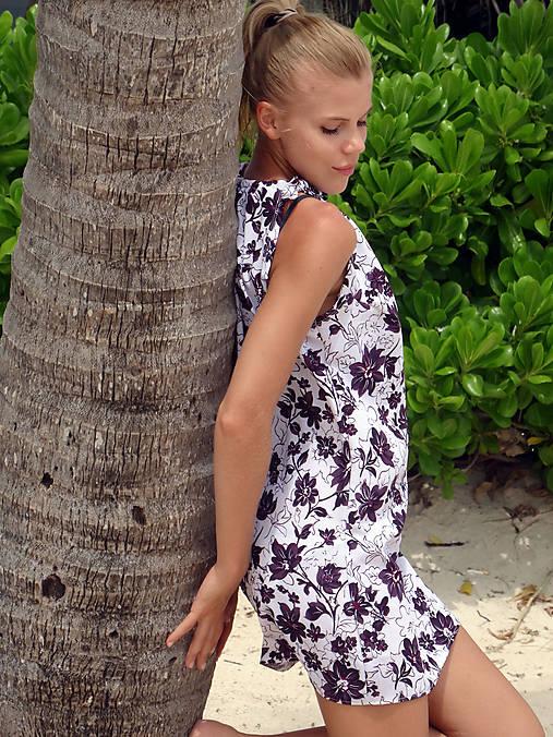 Plážové šaty - kvietky   TrishaFate - SAShE.sk - Handmade Šaty a661f337f2b
