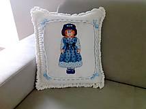 Úžitkový textil - Háčkovaný polštář -  panenka - 8197428_