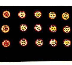 Odznaky/Brošne - Brože z ručně malovanými květy. - 8196725_