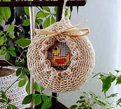Dekorácie - Velikonoční ozdoba s kačenkou - 8197228_