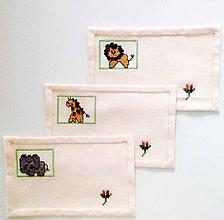 Úžitkový textil - Souprava ZOO-prostírání - 8197502_