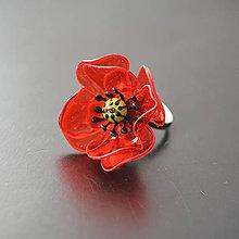 Prstene - Recy prsteň vlčí mak - 8196971_