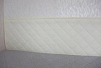 Úžitkový textil - Smotanová zástena - mriežka - 8194378_
