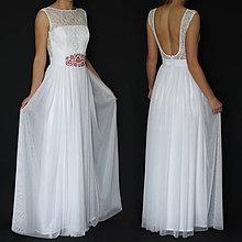 ffe35954658f Šaty - Svadobné šaty s holým chrbátom a tylovou sukňou rôzne farby -  8194950