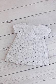 Detské oblečenie - háčkované šatočky - 8194065_