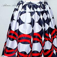 Sukne - Sukňa červené kolesá - 8194241_