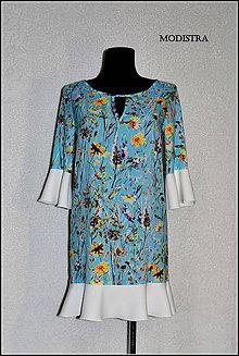 Šaty - Hodvábne kvetinové šaty-Zľava 50%! - 8197276_
