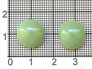 Komponenty - Sklené kabošóny pistáciovo zelenej farby - 8194630_