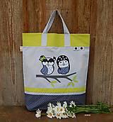 - Nákupná taška - sovičky na konáriku - 8195111_