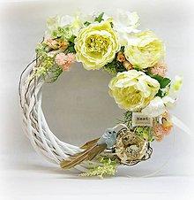 Dekorácie - Veľkonočný jarný venček - 8195652_