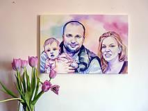 Obrazy - Akvarelový portrét - 8196445_