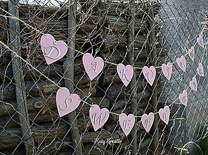 Dekorácie - svadobné girlandy....na želanie - 8199080_