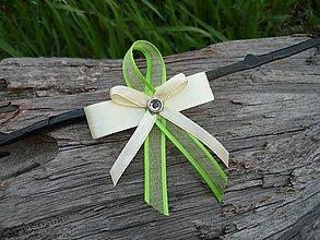 Pierka - Svadobné pierka Ivory & Fresh green verze
