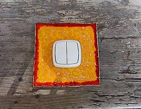 Tabuľky - kryt na vypínač žltý - 8199771_