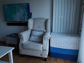 Košíky - Kôš - Truhlica modré odtiene - 8198718_