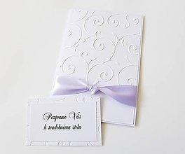 Papiernictvo - svadobné oznámenie biele s uzlom - 8197862_