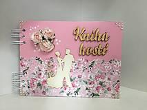 kniha hostí romantická ružová