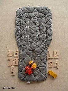 Textil - ELEGANT Univerzálna letná podložka do kočíka BUGABOO a autosedačky proti poteniu GREY - 8200657_