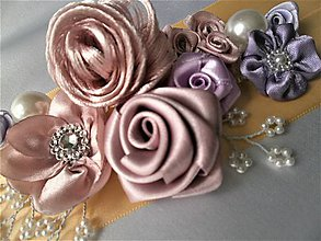 Opasky - Kvetinový opasok - 8198164_