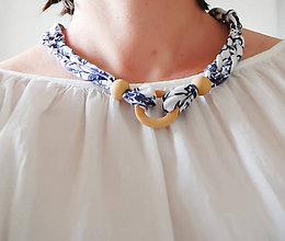 Náhrdelníky - Folk náhrdelník  jaspis (drevo) - 8200839_
