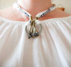 Náhrdelníky - Folk náhrdelník  jaspis (hematit) - 8200844_
