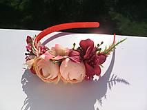 """Ozdoby do vlasov - Kvetinová čelenka do vlasov """"...leto v marhuľovom sade..."""" - 8198288_"""
