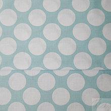 Textil - tyrkysové maxi bodky; 100 % bavlna, šírka 160 cm, cena za 0,5 m - 8197757_