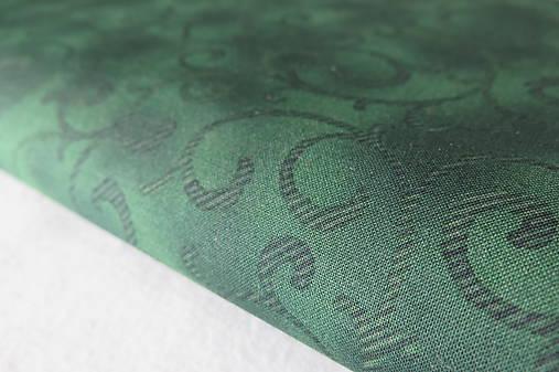 Dizajnová bavlnená látka tmavozelená ornament   KOLEKCIA - SAShE.sk ... 70c5a680b70