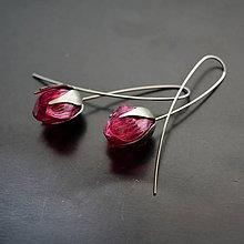 Náušnice - Náušnice PET ružové puky - 8200481_