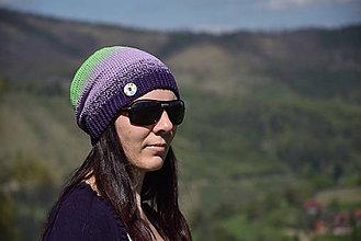 Čiapky - Zľava z 15,90 - Háčkovaná čiapka s farebnými prechodmi - 8200834_