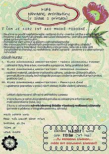 Kurzy - Dizajnové záhrady zajtrajška (kurz) - 8198452_
