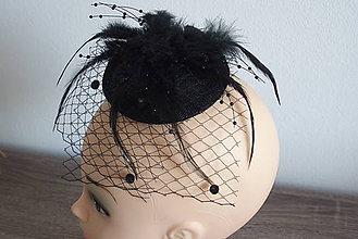 Ozdoby do vlasov - fascinátor čierny - 8201119_