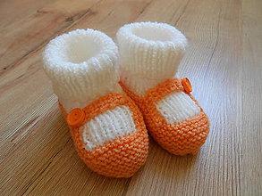 Topánočky - Detské pletené topánočky - 8202449_