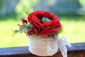 Dekorácie - Kvetinová krabička - 8200960_