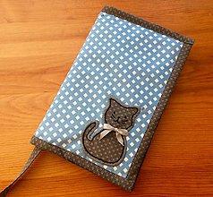 Papiernictvo - obal na knihu s mačičkou - 8202397_