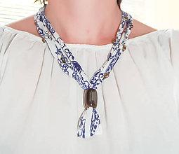 Náhrdelníky - Folk náhrdelník  jaspis (Folk náhrdelník) - 8200892_