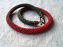 Náhrdelníky - červeno-zelený - 8201272_