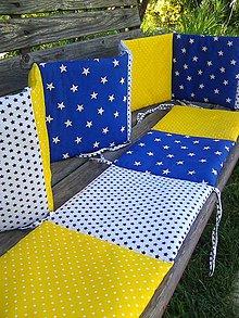 Textil - v žlto modrej postieľke - 8201393_